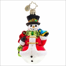 Christopher Radko Winter's Trill Gem Christmas Ornament