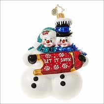 Christopher Radko Winterland Fun Christmas Ornament