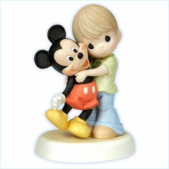"Disney Boy With Mickey Figurine  ""You Are A Classic!"""