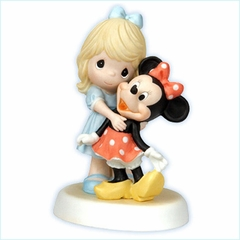 "Disney Girl With Minnie Figurine  ""You Are A Classic!"""