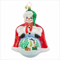 Frosty Scene Radko Ornament