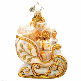 (SOLD OUT) Golden Frost Sleighride Radko    Ornament