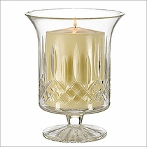 Waterford Lismore Footed Hurricane with Candle  6�