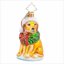 Labrador Lucky Golden Gem Radko Ornament