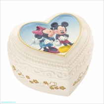 Lenox Mickey and Minnie Sweet Romance Keepsake Box