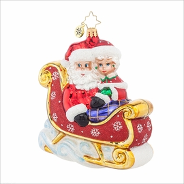 (SOLD OUT) Let's Go for a Ride, Darling! Radko Ornament