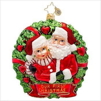 (SOLD OUT)  Loving Couple Radko Christmas Ornament