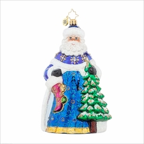 Midnight Blue Radko Ornament