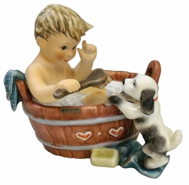 Puppy's Bath Figurine