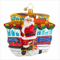 (SOLD OUT) Ride Along Trolley  Radko Ornament