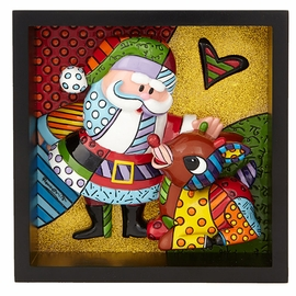 Rudolph & Santa Pop Art Block by Britto