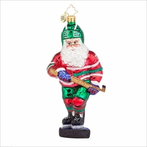 (SOLD OUT) Slap Shot Santa  Radko Ornament