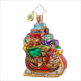 (SOLD OUT) Sleigh Pile Up Gem  Radko Ornament