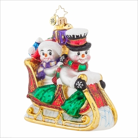 (SOLD OUT) Snow Motion  Radko Ornament