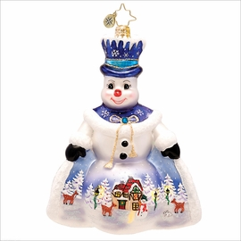 (SOLD OUT) Snow Scene Like This Radko   Christmas Ornament