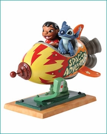 "(Sold Out ) WDCC  Lilo & Stitch  ""Storefront Spaceship"" NEW 2012"