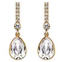 Swarovski Attention Pierced Earrings  gold