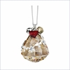 Swarovski Christmas Ornament, Crystal Golden Shadow