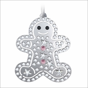 Swarovski Christmas Ornament Gingerbread Man