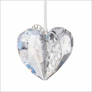 Swarovski Christmas Ornament Heart, Crystal Moonlight