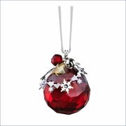 (SOLD OUT) Swarovski Christmas Ornament, Light Siam Satin