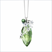 (SOLD OUT) Swarovski Christmas Ornament, Peridot Silver Shade