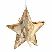 Swarovski Christmas Ornament Star, Crystal Golden Shadow