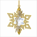 SOLD OUT Swarovski Christmas Ornament Star, Gold tone