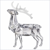 (RETIRED SOLD OUT)Swarovski Christmas Stag