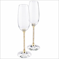 Swarovski  Crystalline Toasting Flutes, Golden Shadow