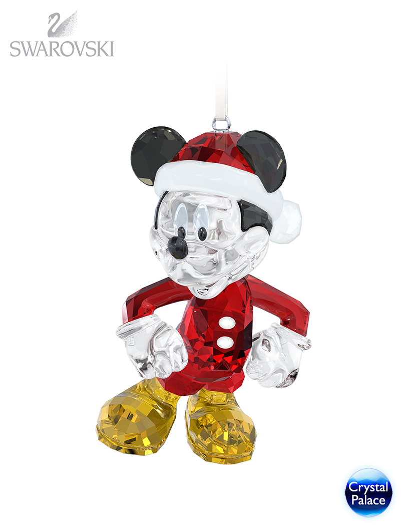 swarovski disney mickey mouse christmas ornament