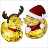 Swarovski Christmas  Happy Ducks  Santa Reindeer