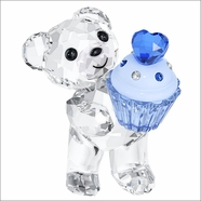 NEW 2014 ( IN STOCK ) Swarovski Kris Bear Blue Cupcake