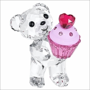 NEW 2014 ( IN STOCK ) Swarovski Kris Bear Pink Cupcake
