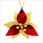 Poinsettia Ornament, Gold Tone
