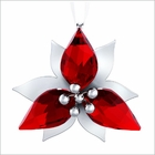 (SOLD OUT) Poinsettia Ornament, Silver Tone
