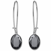 Swarovski Puzzle Jet Hematite Pierced Earrings