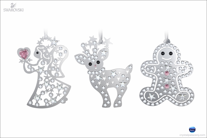 Swarovski Set (Angel, Reindeer, Gingerbread Man)