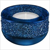NEW 2016 Swarovski Shimmer Tea Light Dark Blue