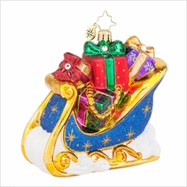The Giving Sleigh  Radko Ornament