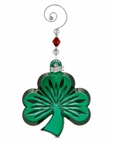 Waterford 2013 Green Shamrock Christmas Ornament
