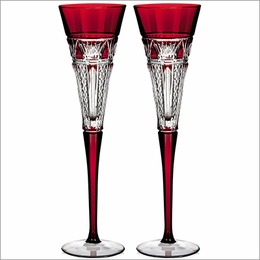 Waterford 2015 Times Square Red Flutes, Pair