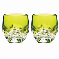 Waterford Crystal Mixology Neon Lime Tumbler Set of 2