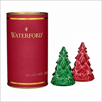 Waterford Giftology Red & Green Mini Tree, Pair