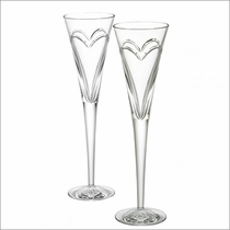 Waterford Love & Romance Toasting Flutes, Pair