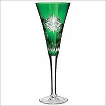 """2012 Waterford  Snowflake Wishes  """"Wishes For Courage"""" Prestige Emerald Flute"""