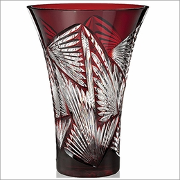 Waterford Times Square 2014  Ruby Kaleidoscope Vase