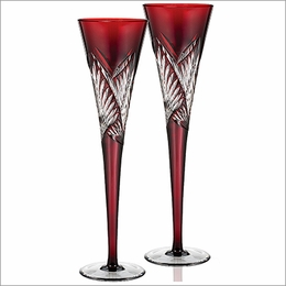 Waterford Times Square  Red Flutes Pair 2014