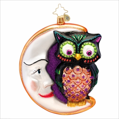 (SOLD OUT) Whooo Moon Radko Christmas Ornament
