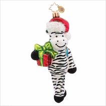 (SOLD OUT) Zack  Zebra Radko Christmas Ornament